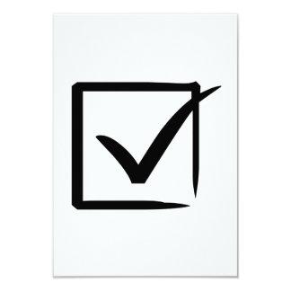 Marca de verificación comunicado personalizado