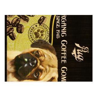 Marca del barro amasado - Organic Coffee Company Postal