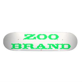 marca del parque zoológico, a tablas de skate