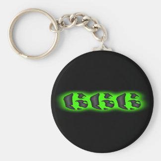 Marca malvada del llavero del verde 666 de la best
