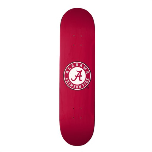 Marca primaria de Alabama - rojo Monopatín