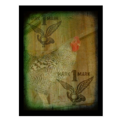 Marca registrada barrada del gallo de la roca postales