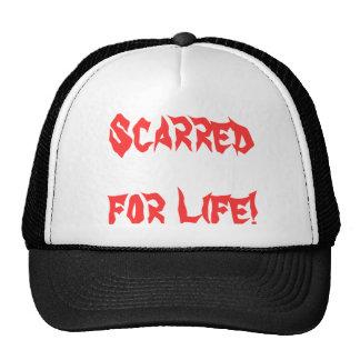 marcado con una cicatriz para el gorra del camione