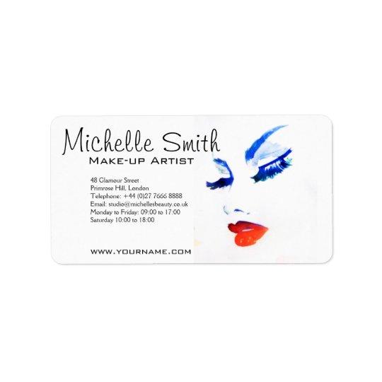 Marcado en caliente del artista de maquillaje de etiquetas de dirección