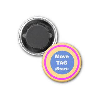 Marcador 1-1/4 de los movimientos del ~TAG~ de los Imanes Para Frigoríficos