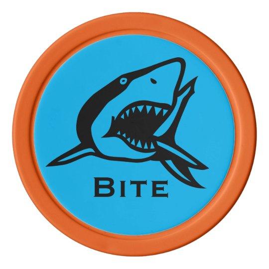Marcador azul brillante de la pelota de golf de juego de fichas de póquer