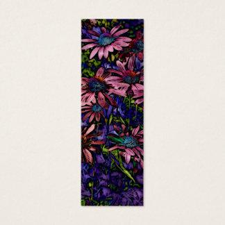 Marcador de libro azul y púrpura de Coneflower Tarjeta De Visita Pequeña