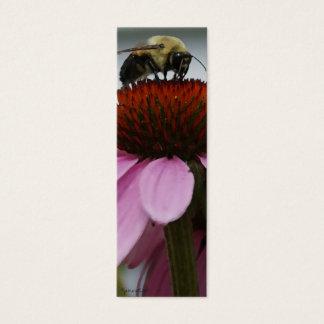 Marcador de libro de la abeja ocupada tarjeta de visita pequeña