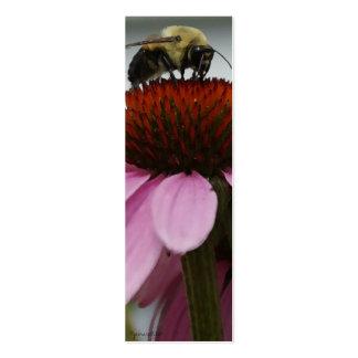 Marcador de libro de la abeja ocupada tarjetas de visita mini