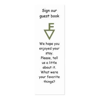 Marcador de libro de visitas de la familia de Fish Tarjetas Personales