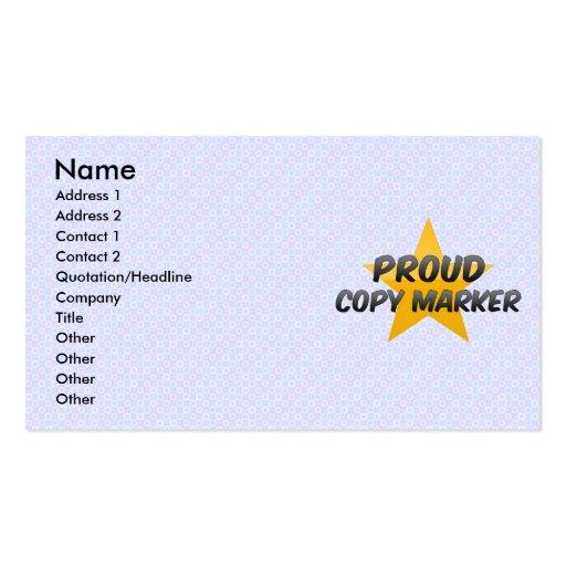 Marcador orgulloso de la copia tarjeta de visita