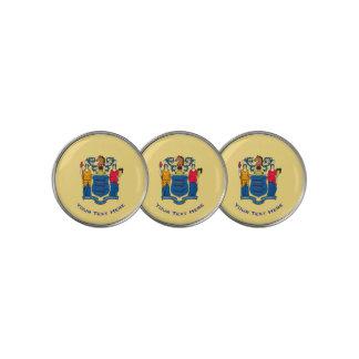 Marcador Para Pelotas De Golf Personalizó su bandera del estado de New Jersey