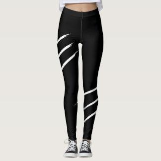 Marcas de la garra, blancos y negros, leggings