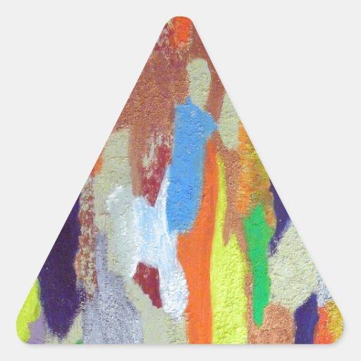 marcas de resbalón pegatinas trianguladas personalizadas