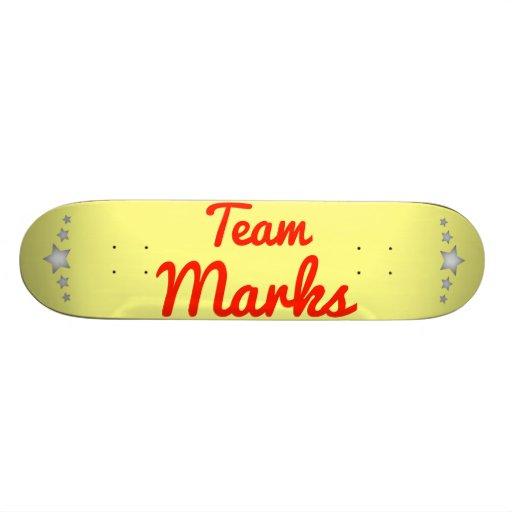 Marcas del equipo tabla de patinar