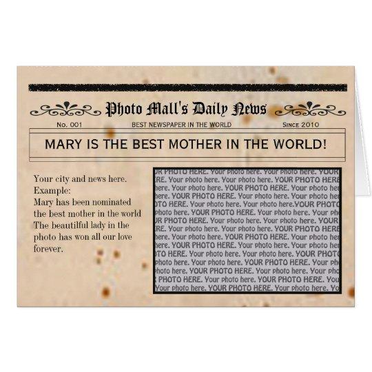 Marco adaptable de la tarjeta de felicitación del
