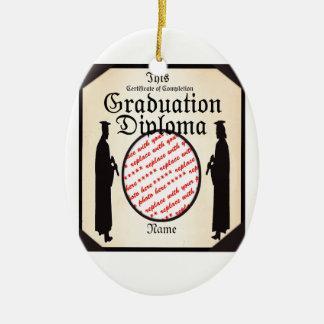 Marco alto derecho graduado del diploma ornamento de reyes magos