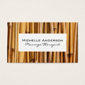 Marco blanco de bambú tarjeta de visita