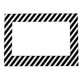 Marco blanco y negro de la foto del imán de la tel foto de imanes