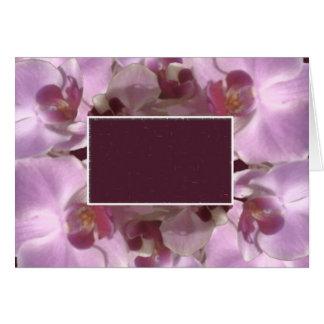 Marco bonito de la flor tarjeta de felicitación