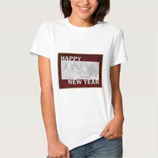 Marco cortado de la foto del Año Nuevo Camiseta