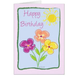 Marco-Cumpleaños verde Tarjeton