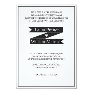 Marco de la cinta y invitación modernos del boda