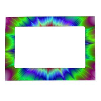 Marco de la explosión del arco iris marcos magneticos para fotos