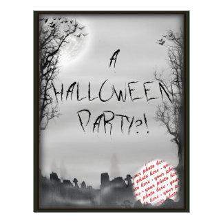 Marco de la foto de la escena de Halloween Tarjetas Informativas
