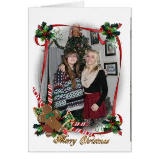 Marco de la foto de la tarjeta de Navidad