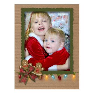 Marco de la foto del navidad en la cartulina postal