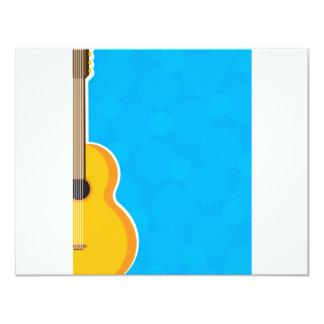 Marco de la guitarra invitación 10,8 x 13,9 cm