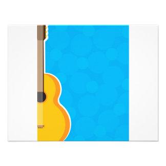 Marco de la guitarra invitaciones personales