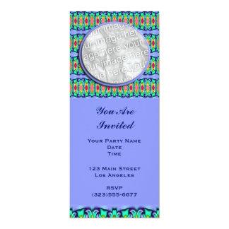 marco de las cintas azules invitación 10,1 x 23,5 cm