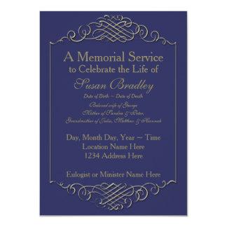 Marco de oro elegante -2 del vintage - ceremonia invitación 11,4 x 15,8 cm