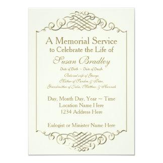Marco de oro elegante del vintage - ceremonia invitación 11,4 x 15,8 cm