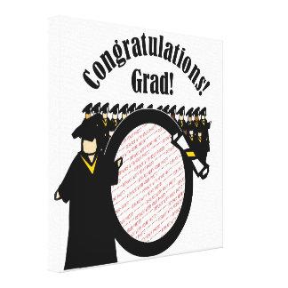 Marco de recepción graduado de la foto del diploma impresiones en lona estiradas