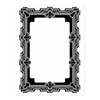 Marco decorativo del diseño gráfico postales