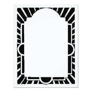 Marco del art déco, carpa invitación 10,8 x 13,9 cm
