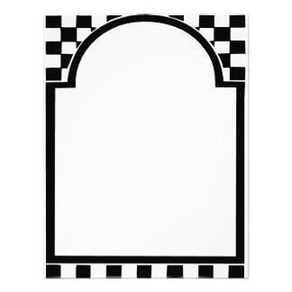 Marco del art déco cuadrados invitacion personal