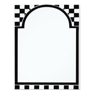 Marco del art déco, cuadrados invitación 10,8 x 13,9 cm
