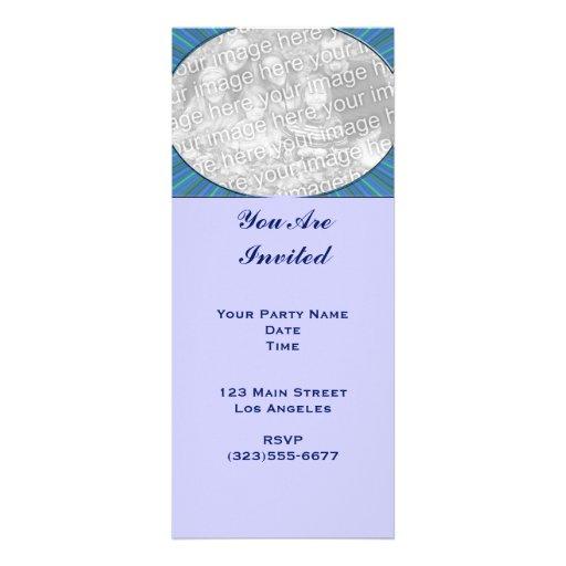 marco del azul de la raya invitación