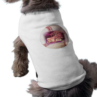 Marco del béisbol camiseta sin mangas para perro