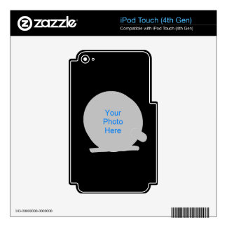 Marco del carrete de la pesca calcomanía para iPod touch 4G