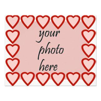Marco del corazón para su imagen comunicados