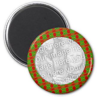 Marco del navidad imán redondo 5 cm