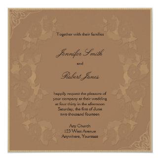 Marco del Victorian en la invitación del boda del
