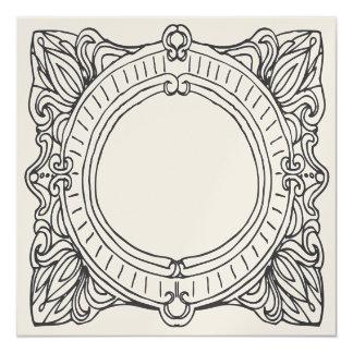Marco del vintage invitación 13,3 cm x 13,3cm