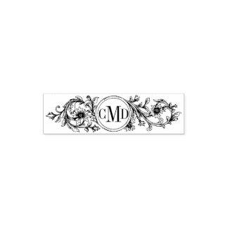 Marco del vintage y el casarse florales de las sello de bolsillo
