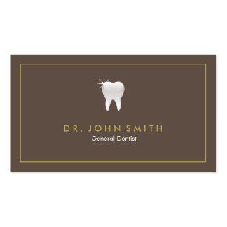 Marco dental de la cita del diente brillante tarjetas de visita